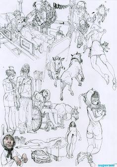 Pen on paper - JungGi Kim