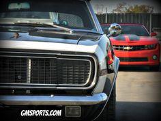 1967 and 2011Camaro at GM Sports in San Jose, CA. www.gmsports.com #camaro #chevy #chevrolet