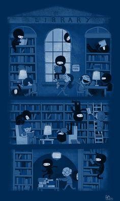 Ninja Readers...so sneaky!