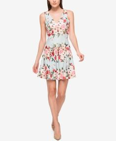 Jessica Simpson Floral-Print Scuba Fit