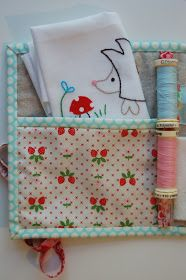 lots of pink here!: 12 Gifts of Christmas Blog Hop! - patchwork sewing kit tutorial {now closed}