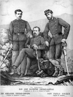 Teniente Coronel José Silvestre Urizar Garfias (1834-1881). Ingresa a la Academia Militar en 1847. En 1854 es destinado al 2º de Línea. En 1858 es nombrado 2º Comandante del Artillería de Marina hasta 1864 asumiendo como Comandante del 3.º de Línea. En la Guerra del Pacífico, con el grado de Teniente Coronel lo designan Comandante del batallón Talca. En 1881 combate en la Batalla de Chorrillos y es ascendido a Coronel, posteriormente, pierde la vida en la Batalla de Miraflores.