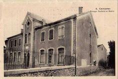 Camurac l'école mairie en 1905