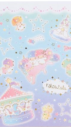 Wallpaper Star Wallpaper, Little Twin Stars, Sanrio, Twins, Kawaii, Wallpapers, Map, Sweet, Cute
