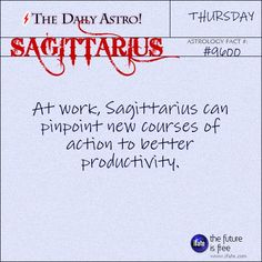 Sagittarius Daily Astro!: Take a look at your birth chart for more insight than just your sun sign.  Visit iFate.com today!