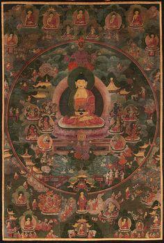 Antique Thangka Masterpiece. #tibetan #art traditionalartofnepal.com