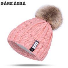 63e7dad7 DARKAREA 2017 High Quality Winter Hat Women Knitted Hat Women Hat Winter  Skullies Beanies Fashion Winter Pom Poms Female Cap
