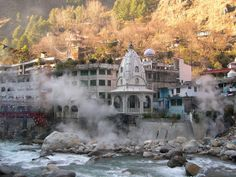 """Manikaran"" a small city attracts tourists of Manali and Kullu to its hot springs and piligrim centres"