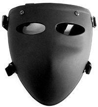 Ballistic Face Mask Level IIIA For Use with Helmets