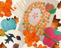 Fantastic Fall  Crafts from Scholastic:  Apples, Leaves, and Name Crafts, oh my!