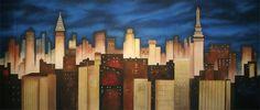 Stylized New York Skyline