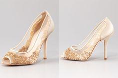 Illusion wedding shoes for 2013 brides Oscar de la Renta !!!  The're Creamy - Blush, Amanda:)