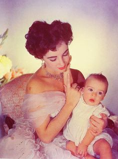 Elizabeth Taylor with son