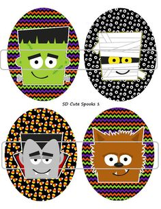 DIY Printable Cute Spooks 1 Shrinky Dinks Digital by MaddieZee, $1.25
