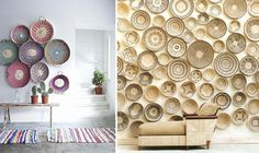 baskets on the wall...now that's a more interesting way to do it.