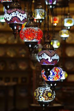 These are hanging lights in Istanbul...and I really want more than one! : )