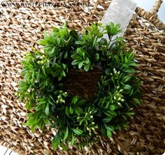 diy faux boxwood wreath tutorial - boxwood garland and twig wreaths from Michael's Crafts Christmas Wreaths, Christmas Crafts, Christmas Decorations, Holiday Decor, Christmas Ideas, Xmas, Boxwood Wreath Diy, Grapevine Wreath, Wreaths Across America