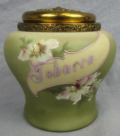 Nakara Victorian Humidor with Lid and Floral Decoration Victorian Decor, Victorian Homes, Victorian Era, Ceramic Materials, Gilded Age, Queen Anne, Vintage Green, Vintage Furniture, Vintage Antiques
