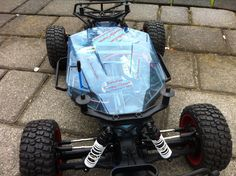 Dusty Motors Traxxas Slash 2WD Schutzabdeckung blau HCG Chassis