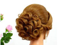 Updo hairstyles. Wedding prom hairstyles for medium hair. Bridal hairstyles