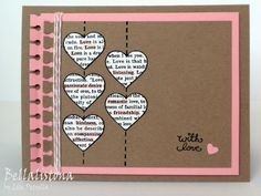http://www.bellalistona.blogspot.com/  Love the notebook paper affect, and the stacked hearts