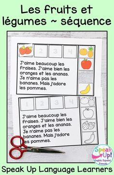 Students love a simple sequence activity about les fruits et légumes en français. It is perfect to use in French class to learn about fruit & vegetable vocabulary. Teachers love a print and go + paperless sequencing activity for young learners. The paperless BOOM version includes audio. C'est parfait pour une classe d'immersion, primaire, fle où maternelle. Les enfants aiment la lecture et BOOM activities en français. #maternelle #frenchimmersion Student Reading, Student Work, World Language Classroom, Sequencing Cards, Classroom Board, French Classroom, Emergent Readers, Dual Language, How To Speak French