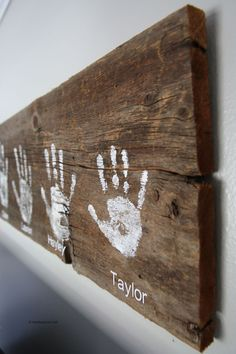 DIY Handprint Wall Sign from  The Idea Room