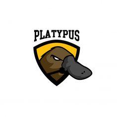 Platypus logo Premium Vector Banners, Owl, Platypus, Cartoon Drawings, Vector Free, Logos, Illustration, Poster, Animals