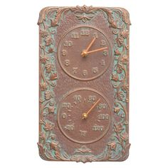 Acanthus Indoor/Outdoor Thermometer Wall Clock