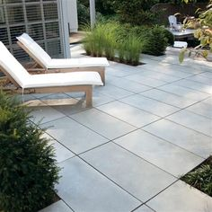 modern patio paving