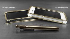 KarasKustoms Alloy iPhone 5 Case and Bolt Pen in Brass - iGet.it