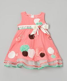 Love this Coral Apple Dress