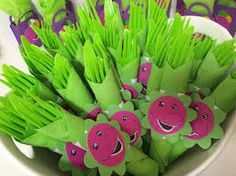 Image result for barney birthday party food ideas