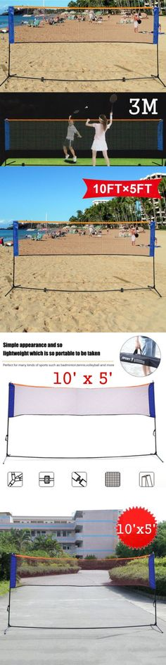 Nets 159131: Portable 10 X5 Badminton Beach Volleyball Tennis Training Net W Carrying Bag Y -> BUY IT NOW ONLY: $32.95 on eBay!