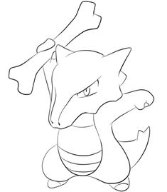 Marowak Coloring Page From Generation I Pokemon Category Select 25683 Printable Crafts Of Cartoons Nature Animals Bible And Many More