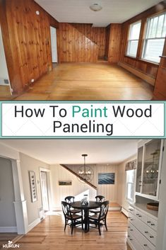 You don't have to get rid of your old fashioned wood paneling, bring it to the Century with a fresh coat of paint! [How To Paint Wood Paneling, Painting Wood Paneling Before And After, DIY Wo Painting Wood Paneling, Updating House, Home, Living Room Remodel, Wood Paneling Living Room, Home Remodeling, Room Remodeling, Home Renovation, Paneling Makeover
