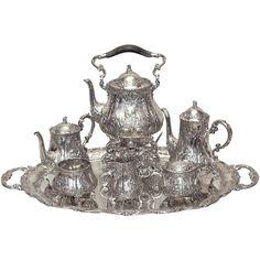 1stdibs | Antique Continental Sterling Silver Tea Service circa 1890-1900