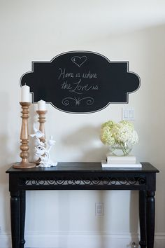 Chalk Wall Decal Frame Home is Where the Heart Is by urbanwalls, $39.00