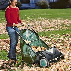 Leaf Collector is faster than using a rake and easy on your back! $119