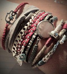 bracelet stack <3