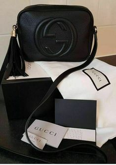 ebc37489d95 100% Authentic Black Gucci Soho Disco Bag With Copy Of Receipt And  BoxDustbag  fashion
