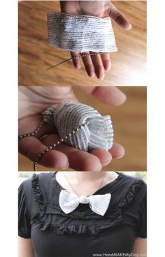 A dollar store craft bow tie necklace :)