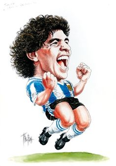 View Maradona by Franco Bruna on artnet. Browse upcoming and past auction lots by Franco Bruna. Best Football Players, Football Gif, Soccer Players, Maradona Tattoo, Avengers Drawings, Diego Armando, Lion Pictures, Kids Canvas, Celebrity Caricatures