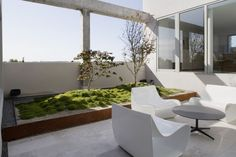 Terrace at Atico en U by Abaton Arquitectura in Madrid, Spain