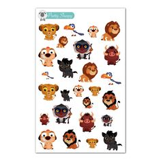Lion King Stickers - Disney Planner Stickers by PrettySheepy on Etsy https://www.etsy.com/listing/243650776/lion-king-stickers-disney-planner