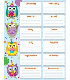 Fichas, pósters e ideas para trabajar las fechas de cumpleaños en el aula. Birthday posters and ideas for classroom.