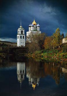 Kremlin of Pskov city, Russia.