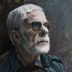 OLD MAN FACE STUDY - 2016 Oil on panel 40cm/40cm