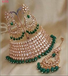 Indian Jewelry Sets, Indian Wedding Jewelry, Ethnic Jewelry, Indian Bridal, Marriage Jewellery, Bridal Jewellery Inspiration, Bridal Jewelry Vintage, Fancy Jewellery, Girls Jewelry