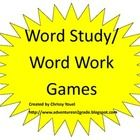 These can either be used for word study or independent word work.  Students use a given set of words to play each game (such as spelling/word study...